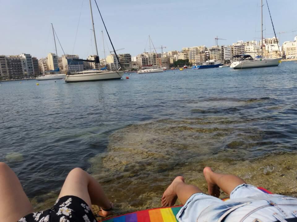 몰타 어학연수 휴가 시간편-Manoel Island Beach
