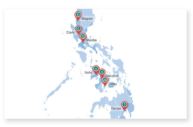 감자유학 필리핀 학교 지도이미지